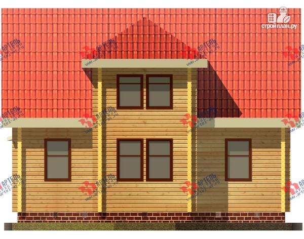 Фото 3: проект дом 8х10 из бруса с крыльцом-террасой