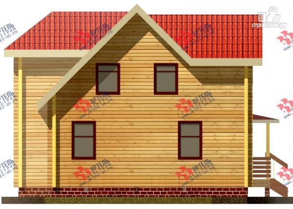 Фото 4: проект дом 8х10 из бруса с крыльцом-террасой