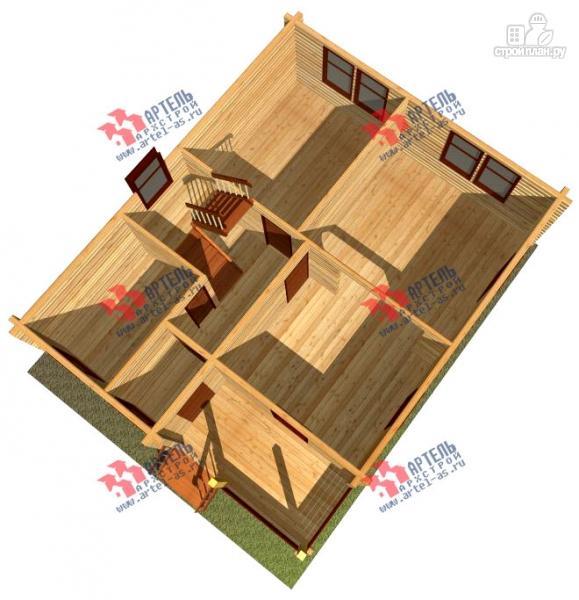 Фото 6: проект дом 8х10 из бруса
