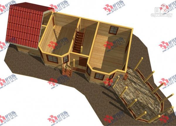 Фото 3: проект дом из бруса, с сауной и барбекю