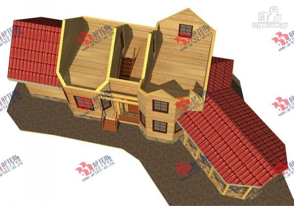 Фото 4: проект дом из бруса, с сауной и барбекю