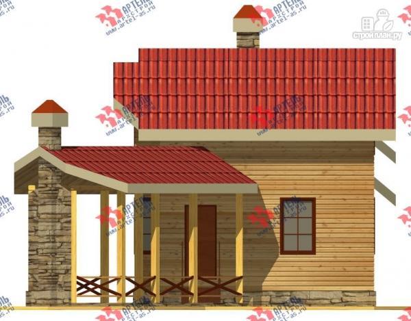 Фото 5: проект дом из бруса, с сауной и барбекю
