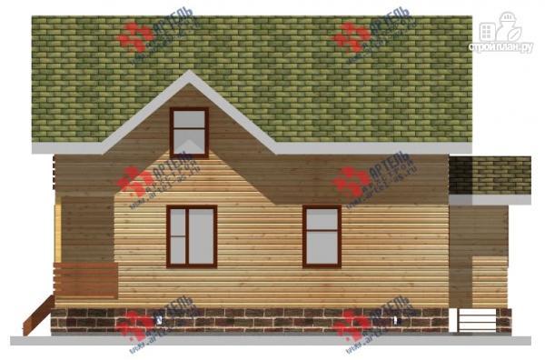 Фото 7: проект дом 8х10 из бруса, с балконом