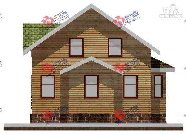 Фото 4: проект дом 8х10 из бруса, с балконом