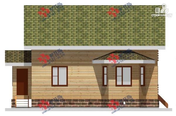 Фото 6: проект дом 8х10 из бруса, с балконом