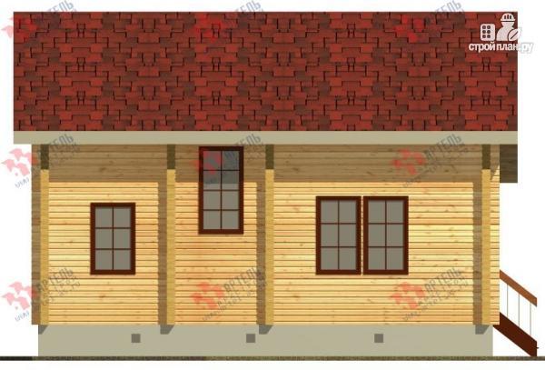 Фото 3: проект дом из бруса, с крыльцом и балконом