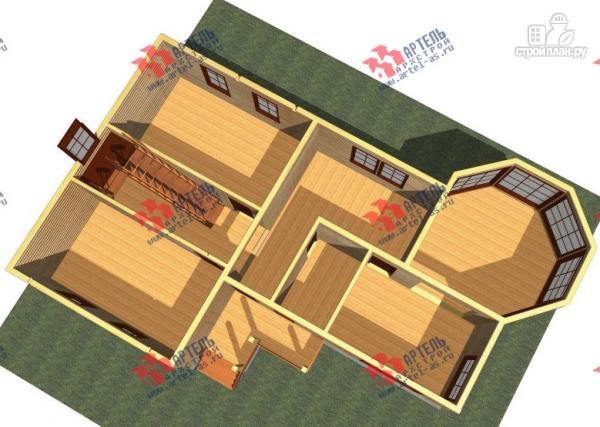 Фото 2: проект дом 9х14 из бруса