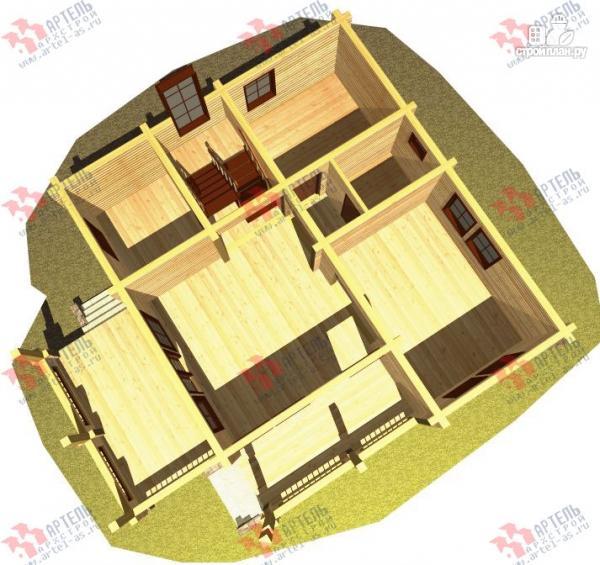 Фото 6: проект дом из бруса, с террасой