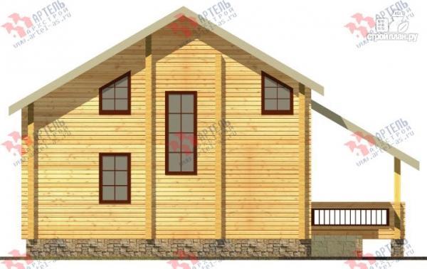 Фото 5: проект дом из бруса, с террасой