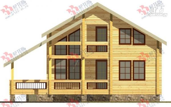 Фото 4: проект дом из бруса, с террасой
