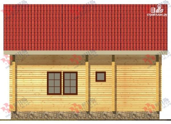 Фото 3: проект дом из бруса, с террасой