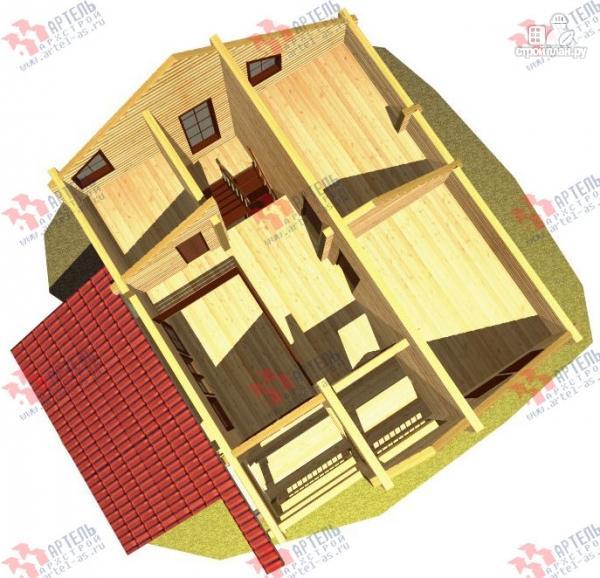 Фото 7: проект дом из бруса, с террасой
