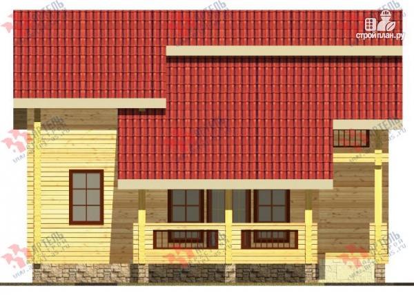 Фото 2: проект дом из бруса, с террасой