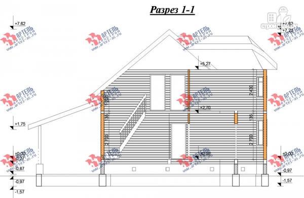Фото 10: проект дом 8х9 из бруса, с навесом для машины