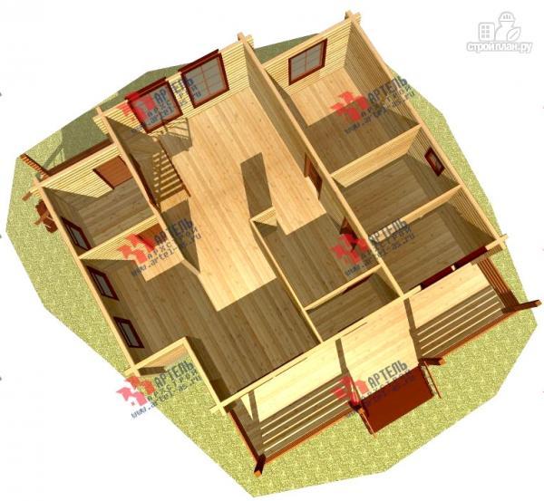 Фото 6: проект дом 9х9 из бруса