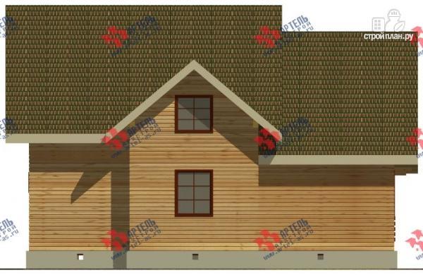 Фото 6: проект дом из бруса, с балконом и террасой