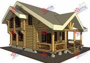 Проект дом из бревна, с парилкой