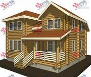 Проект дом 10х10 из бревна