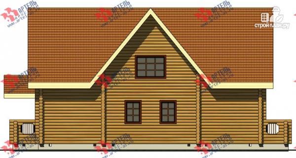 Фото 5: проект дом 8х14 из бревна, с парилкой и бильярдной