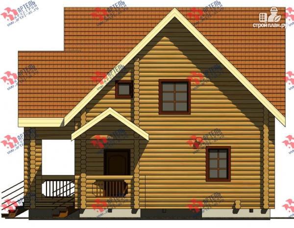 Фото 4: проект дом 8х14 из бревна, с парилкой и бильярдной