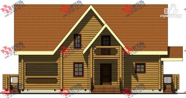 Фото 7: проект дом 8х14 из бревна, с парилкой и бильярдной
