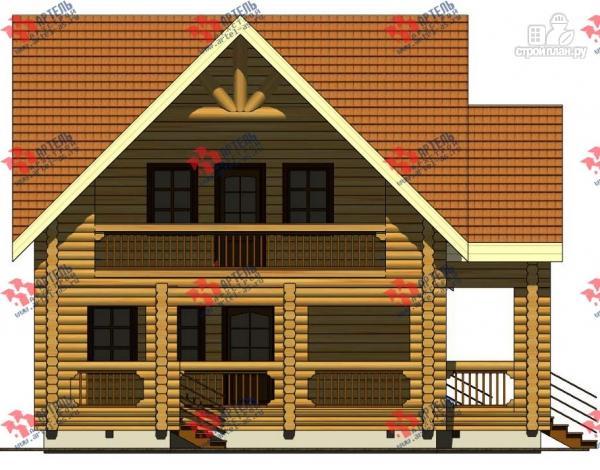 Фото 6: проект дом 8х14 из бревна, с парилкой и бильярдной