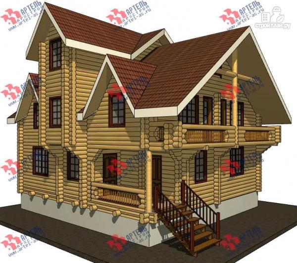 Фото: проект трёхэтажный дом 10х10 из бревна