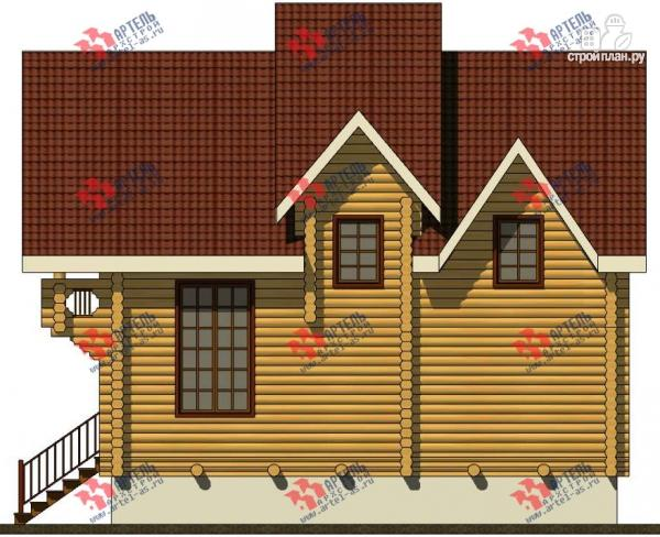 Фото 5: проект трёхэтажный дом 10х10 из бревна