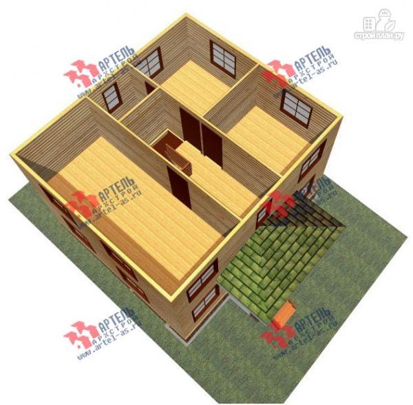 Фото 3: проект дом 7х8 из сухого профиля