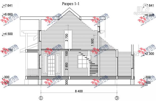 Фото 9: проект дом из сухого профиля с угловой террасой