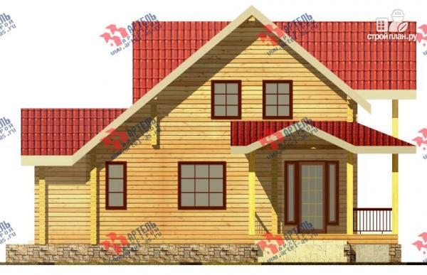 Фото 4: проект дом из сухого профиля с угловой террасой