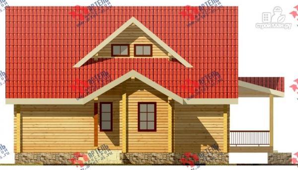 Фото 3: проект дом из сухого профиля с угловой террасой