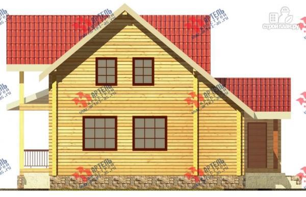Фото 2: проект дом из сухого профиля с угловой террасой