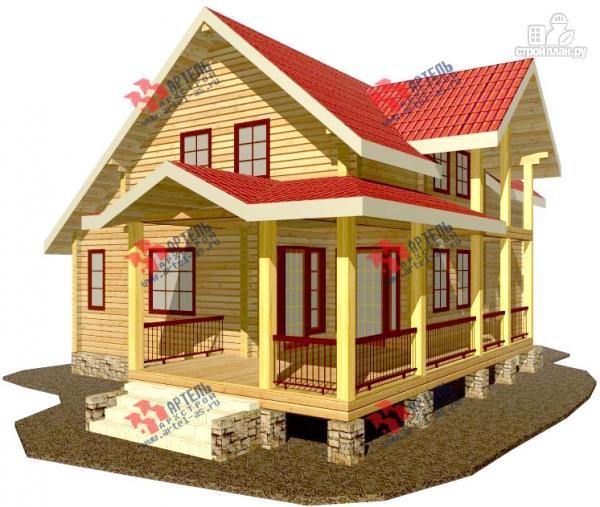 Фото: проект дом из сухого профиля с угловой террасой