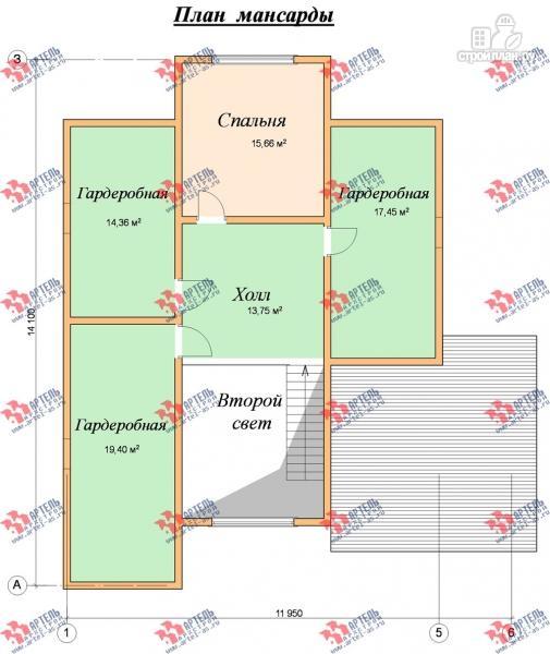 Фото 9: проект дом 10х14 из сухого профиля