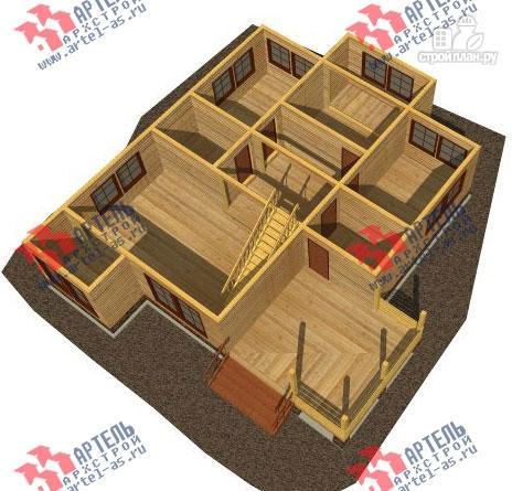 Фото 2: проект дом 10х14 из сухого профиля