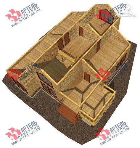 Фото 3: проект дом 10х14 из сухого профиля