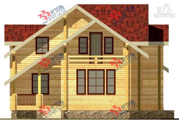 Фото 2: проект дом из сухого профиля с крыльцом и балконом