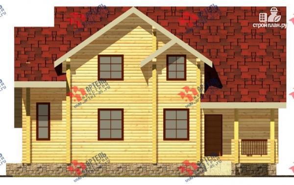 Фото 3: проект дом из сухого профиля с крыльцом и балконом