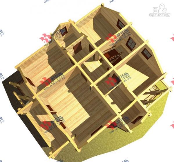 Фото 7: проект дом из сухого профиля с крыльцом и балконом