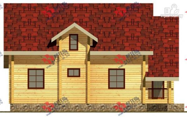 Фото 5: проект дом из сухого профиля с крыльцом и балконом