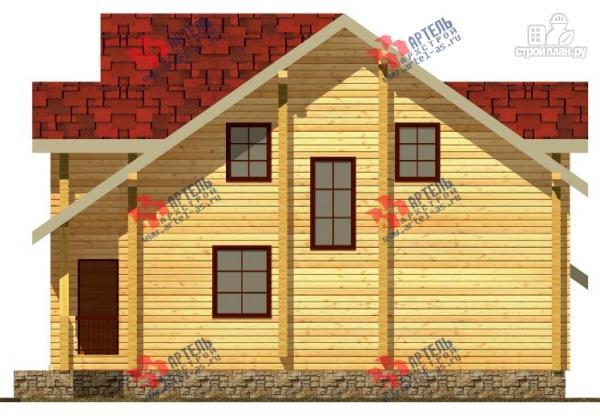 Фото 4: проект дом из сухого профиля с крыльцом и балконом
