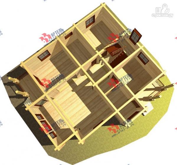 Фото 6: проект дом из сухого профиля с крыльцом и балконом