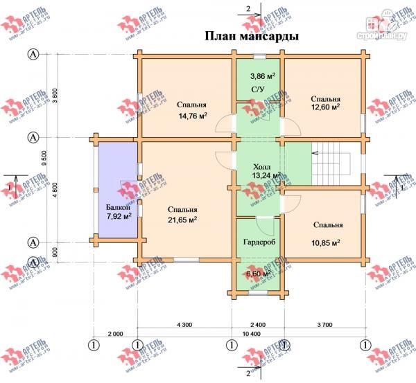 Фото 9: проект дом из сухого профиля с крыльцом и балконом