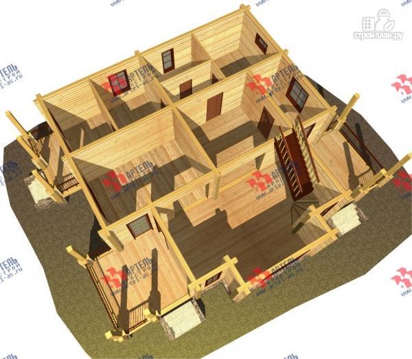 Фото 9: проект дом из сухого профиля со вторым светом и двумя террасами