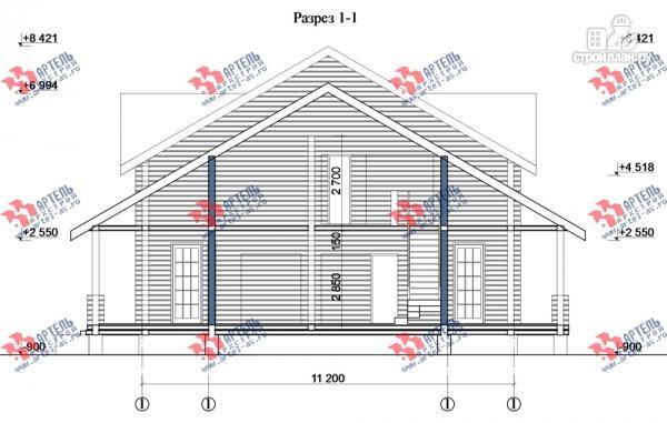 Фото 8: проект дом из сухого профиля со вторым светом и двумя террасами
