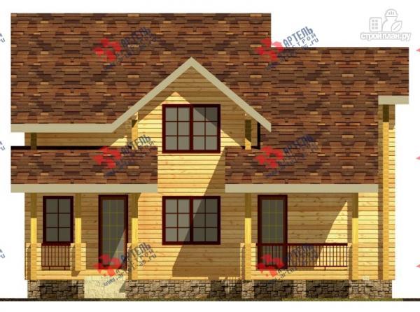 Фото 2: проект дом из сухого профиля со вторым светом и двумя террасами