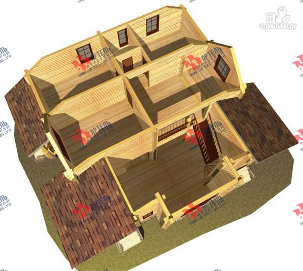 Фото 10: проект дом из сухого профиля со вторым светом и двумя террасами