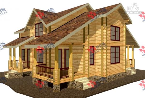 Фото: проект дом из сухого профиля со вторым светом и двумя террасами