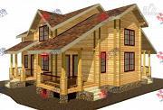 Фото: дом из сухого профиля со вторым светом и двумя террасами